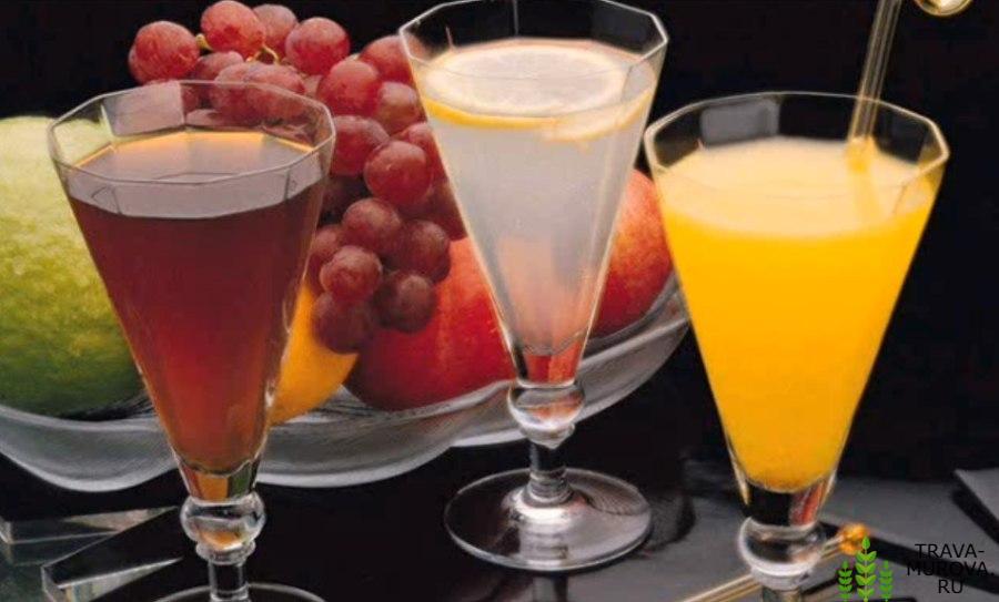 Разбавленные водой свежевыжатые фруктовые соки от аппендицита